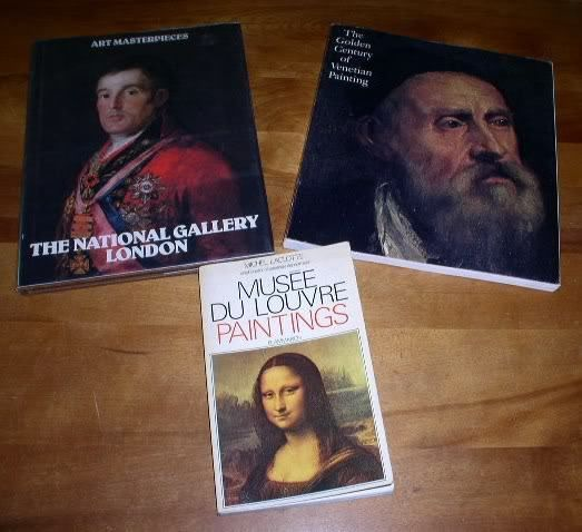 Primary image for Fine Art Vintage Books Lot Of 3 Louvre Venetian Gallery