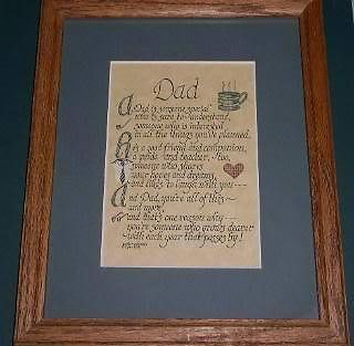 Primary image for Fathers Poem Sentiment Vintage 1915