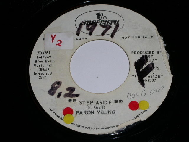 Primary image for Faron Young Step Aside 45 Rpm Record Promotional