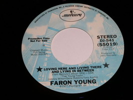 Faron Young Loving Here And Living There 45 Rpm Record Promotional - $18.99