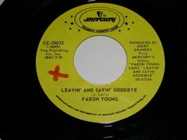 Faron Young Leavin And Saying Goodbye 45 Rpm Record Vintage Promotional - $18.99