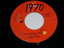 Faron Young Occasional Wife 45 Rpm Record - $18.99