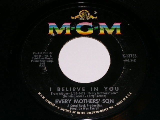 Primary image for Every Mothers Son I Believe In You Vintage 45 Rpm Phonograph Record