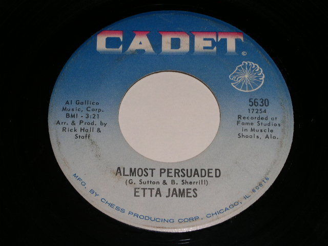 Primary image for Etta James Almost Persuaded 45 Rpm Record Vintage Cadet Label