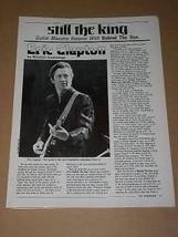 Eric Clapton Hit Parader Magazine Photo Vintage 1985 - $12.99