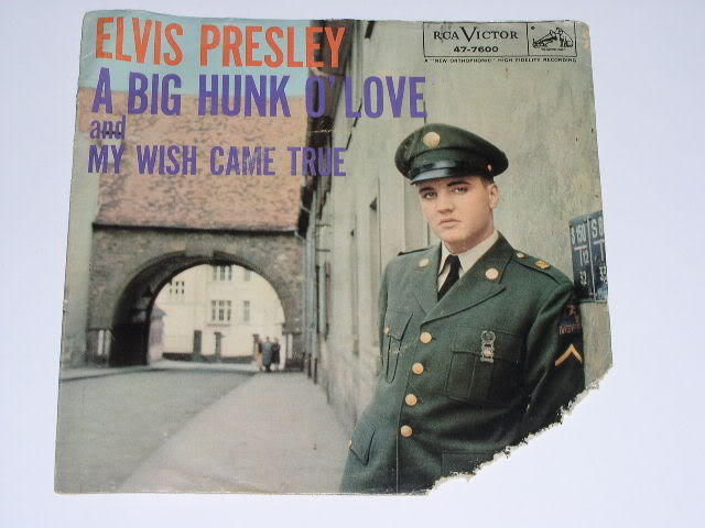 Primary image for Elvis Presley Picture Sleeve Vintage Big Hunk Of Love