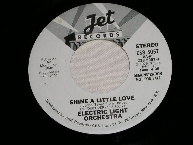 Primary image for ELECTRIC LIGHT ORCHESTRA SHINE A LITTLE LOVE PROMOTIONAL 45 RPM RECORD 1979