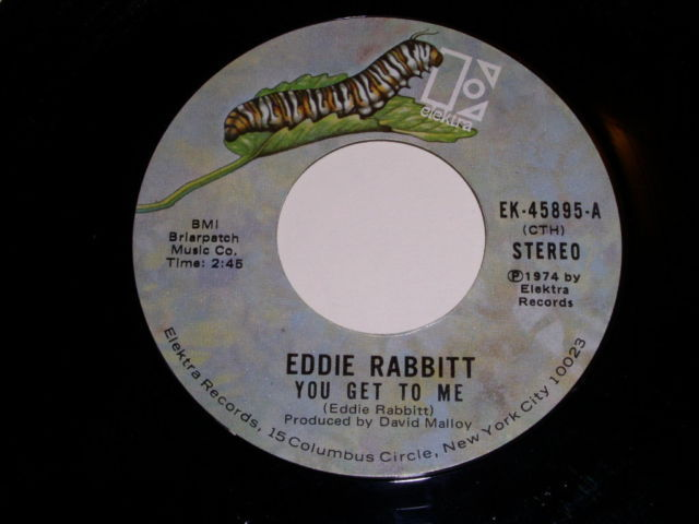 Primary image for Eddie Rabbitt You Get To Me 45 Rpm Record Vintage 1974