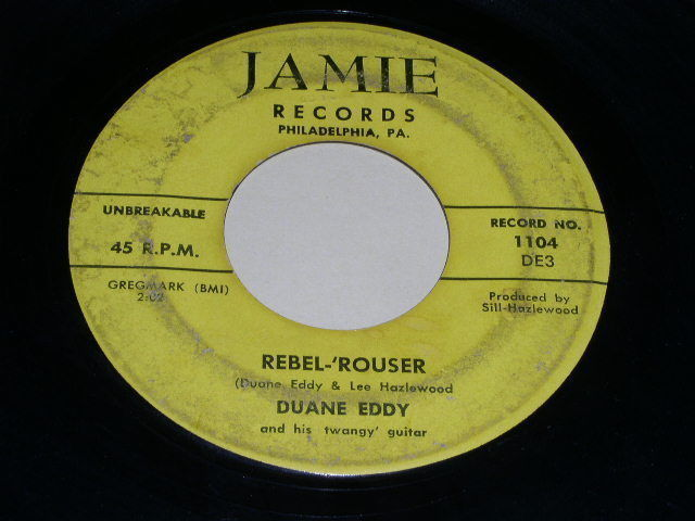 Primary image for Duane Eddy Rebel Rouser 45 Rpm Phonograph Record