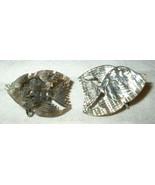 j12 Carved Abalone Shell Angel Fish Screw Back Earrings - $4.98