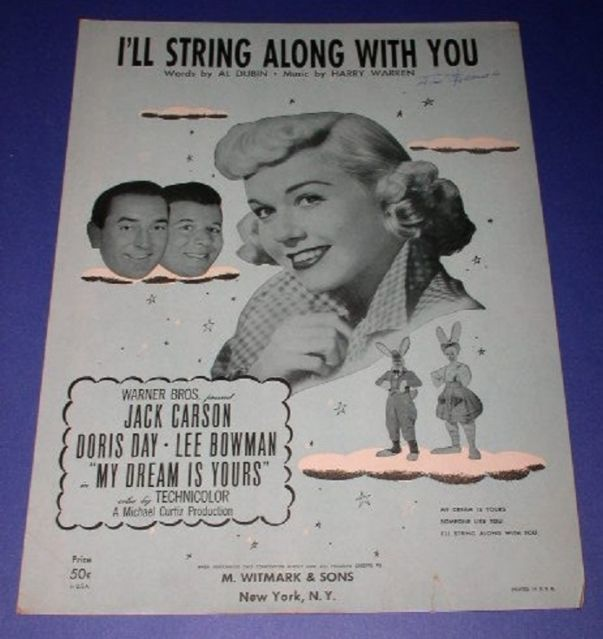 Primary image for DORIS DAY SHEET MUSIC VINTAGE 1949 I'LL STRING ALONG