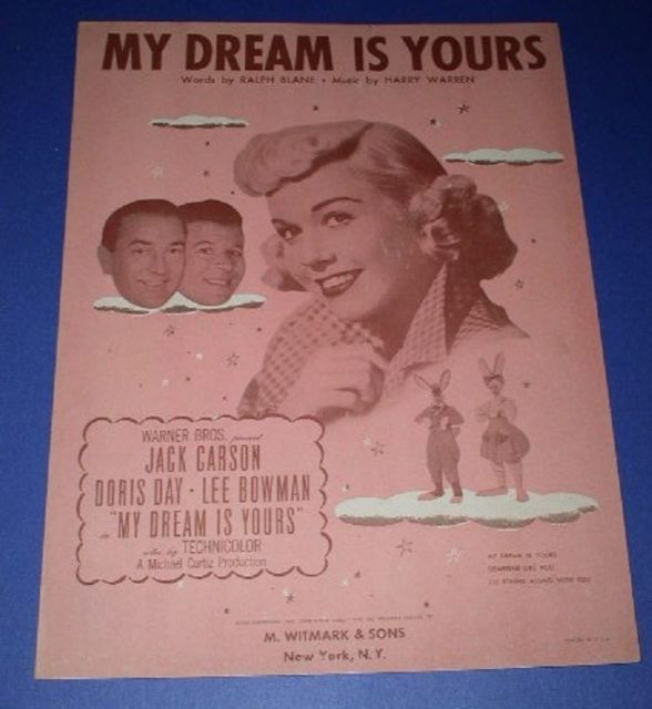 Primary image for DORIS DAY SHEET MUSIC VINTAGE 1949 MY DREAM IS YOURS