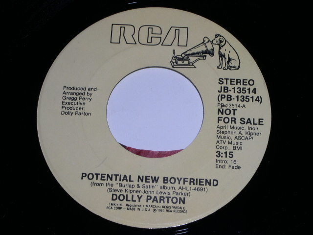 Primary image for Dolly Parton Potential New Boyfriend Promotional 45 Rpm