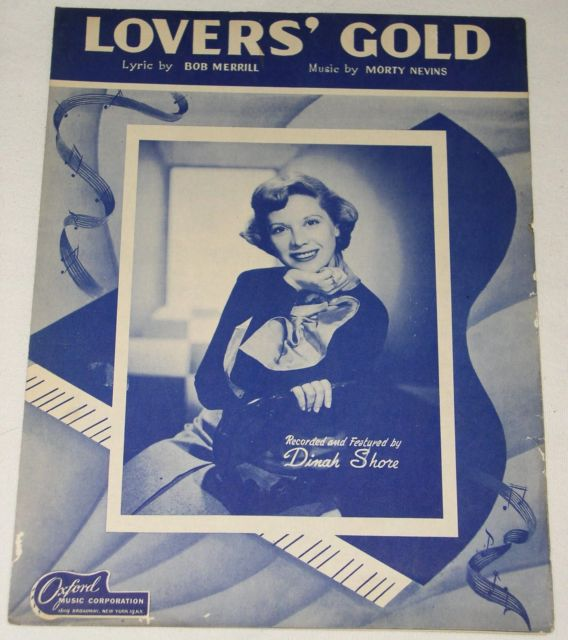 Primary image for DINAH SHORE VINTAGE 1949 SHEET MUSIC