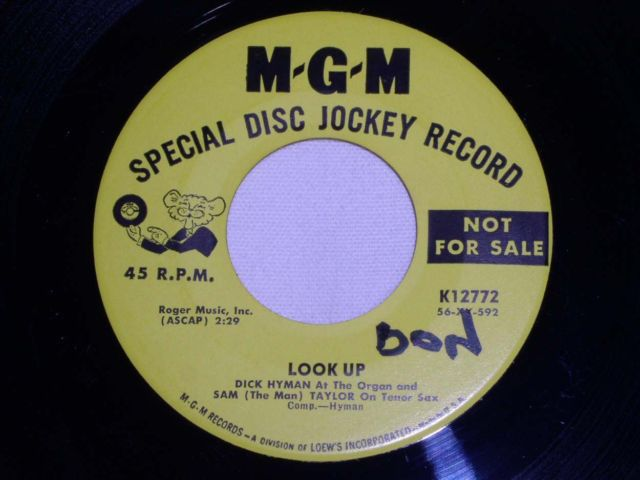 Primary image for DICK HYMAN LOOK UP VINTAGE JAZZ 45 RPM DISC JOCKEY ISSUE