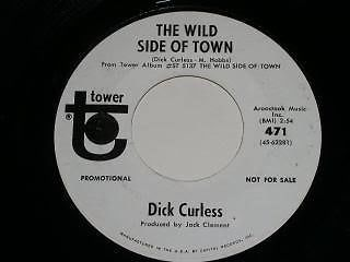 Primary image for Dick Curless Wild Side Of Town 45 Rpm Record Promotional