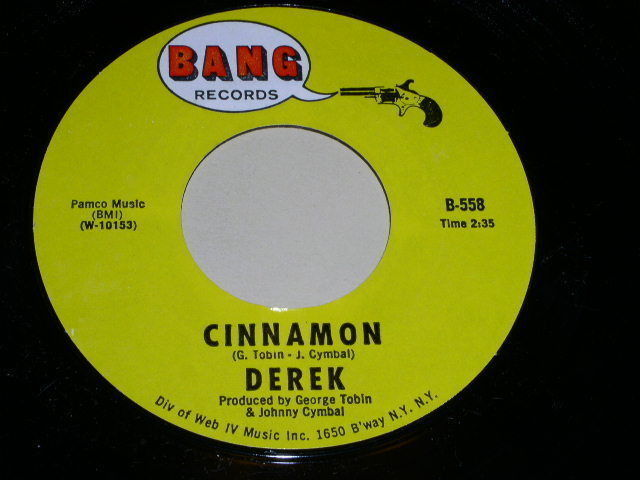 Primary image for Derek Cinnamon 45 Rpm Phonograph Record