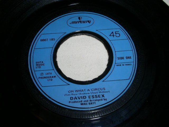 Primary image for DAVID ESSEX OH WHAT A CIRCUS FRANCE IMPORT 45 RPM PHONOGRAPH RECORD 1978