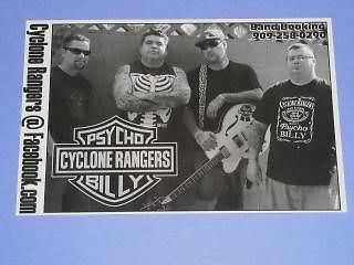 Primary image for Cyclone Rangers Concert Card Promotional Pomona Calif.