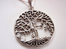 Medium Large Tree of Life Necklace 925 Sterling... - $20.29