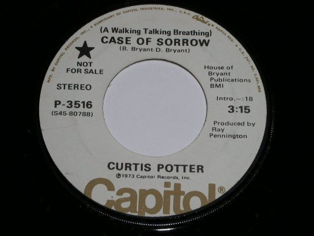 Primary image for CURTIS POTTER CASE OF SORROW VINTAGE PROMO COUNTRY 45 RPM