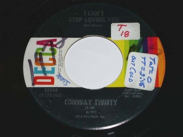 Primary image for Conway Twitty Since She's Not With The One She Loves 45 Rpm Phonograph Record