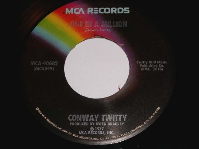 Primary image for Conway Twitty One In A Million 45 Rpm Phonograph Record