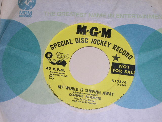 Primary image for CONNIE FRANCIS MY WORLD IS SLIPPING AWAY PROMO 45 RPM PHONOGRAPH RECORD