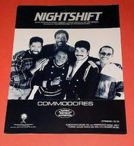 Commodores Sheet Music Vintage 1985 Nightshift - $18.98