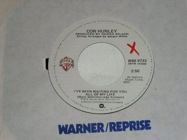 Primary image for CON HUNLEY I'VE BEEN WAITING FOR YOU ALL OF MY LIFE 45 RPM RECORD VINTAGE 1978