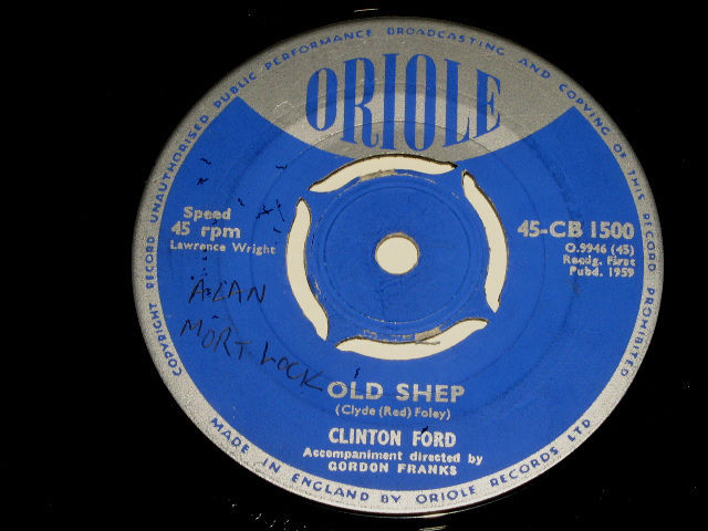 Primary image for Clinton Ford Old Shep 45 Rpm Vintage Oriole Label UK