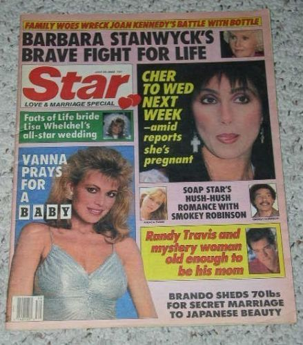 Primary image for Cher Star Tabloid Vintage July 1988