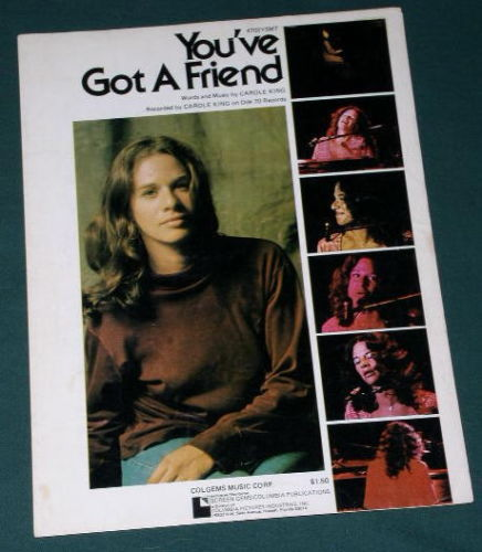 Primary image for CAROLE KING SHEET MUSIC VINTAGE 1971