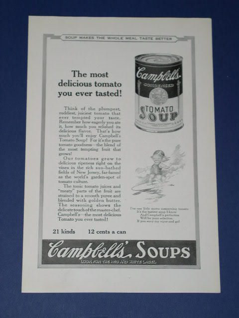 Primary image for CAMPBELL'S SOUP VINTAGE 1923 NATIONAL GEOGRAPHIC AD
