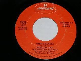 Primary image for Buddy Miles Freedom Express Them Changes 45 Rpm Record