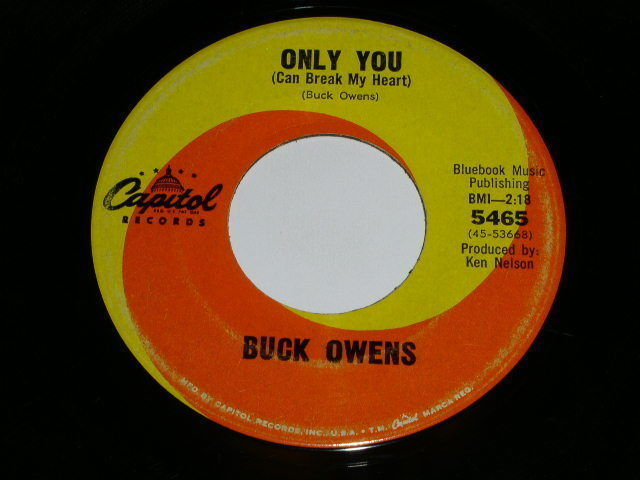 Primary image for Buck Owens Only You 45 RPM Phonograph Record