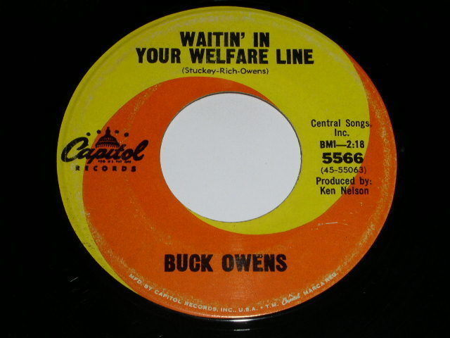 Primary image for Buck Owens Welfare Line 45 RPM Phonograph Record