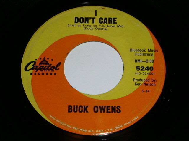Primary image for Buck Owens Don't Let Her Know 45 RPM Phonograph Record