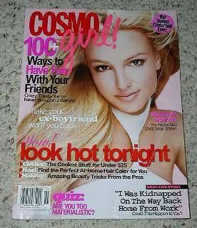 Primary image for Britney Spears Cosmo Girl Magazine Vintage 2003