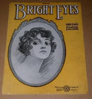 Primary image for Bright Eyes Sheet Music Vintage 1921