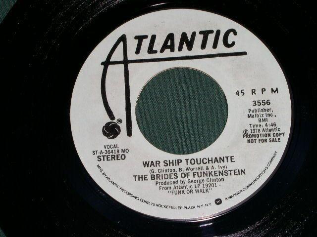 Primary image for BRIDES OF FUNKENSTEIN GEORGE CLINTON WAR SHIP TOUCHANTE PROMO 45 RPM 1978