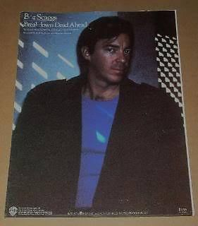 Primary image for Boz Scaggs Sheet Music Vintage 1980