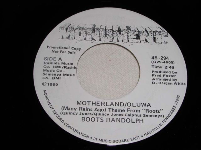 Primary image for BOOTS RANDOLPH MOTHERLANG PROMOTIONAL JAZZ 45 RPM VINTAGE 1980