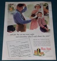 BON AMI VINTAGE MAGAZINE ADVERTISEMENT 1941 BON... - $9.99