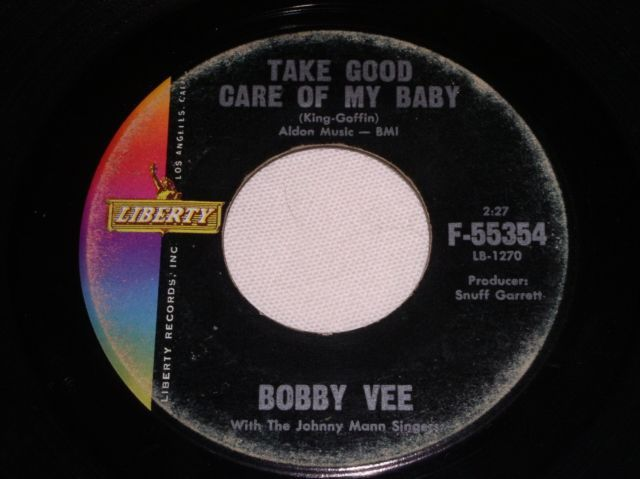 Primary image for BOBBY VEE TAKE GOOD CARE OF MY BABY 45 RPM RECORD VINTAGE