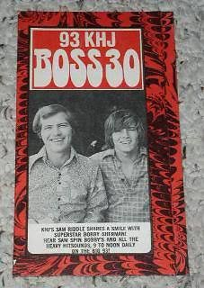 Primary image for Bobby Sherman KHJ Hit list Vintage 1969 Sam Riddle