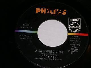Primary image for Bobby Hebb Satisfied Mind 45 Rpm Record