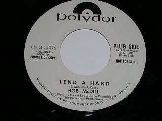 Primary image for Bob McDill Lend A Hand 45 Rpm Phonograph Record Promotional