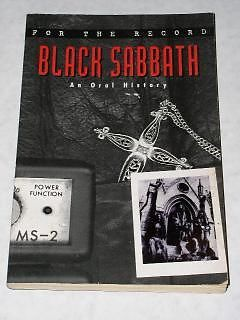Primary image for Black Sabbath Book 2002 For The Record By Stark