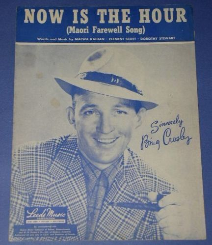 Primary image for BING CROSBY VINTAGE SHEET MUSIC NOW IS THE HOUR